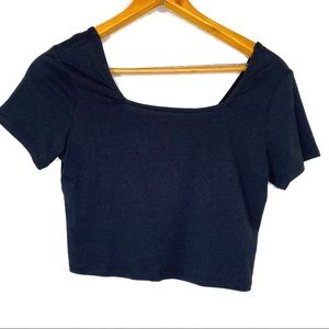 Wild Fable NWOT Black Square Neck Crop Top
